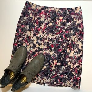 TALBOTS Floral Skirt Midi with slip 8P